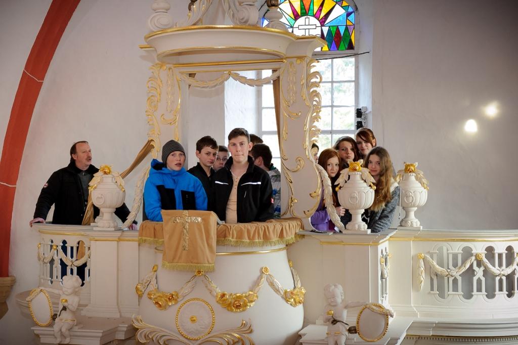 Die Reinsfelder Kirchenkanzel - es gab viel zu entdecken